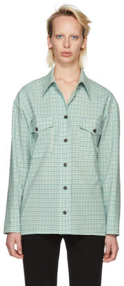Victoria Beckham Green Check Pocket Shirt