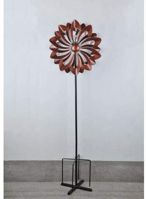 Red Barrel Studio Fetzer Solar Bistratal Flower Wind Spinner