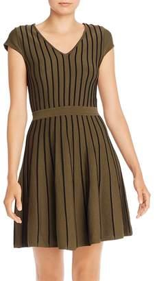 Parker Flor Seamed Knit Fit and Flare Dress