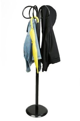 Mind Reader Standing Entryway Coat Rack Holder Coat Tree Hanger, Scarf Rack, Umbrella Tree Holder, Hat Hanger with 6 Hooks, Black