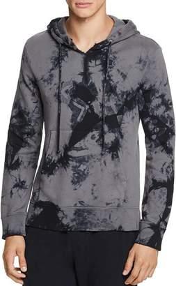 Helmut Lang Back-Dart Tie-Dyed Graphic Hooded Sweatshirt