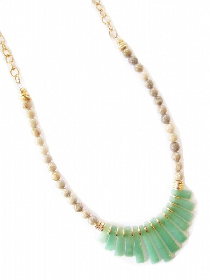 K. Amato Beaded Fan Necklace