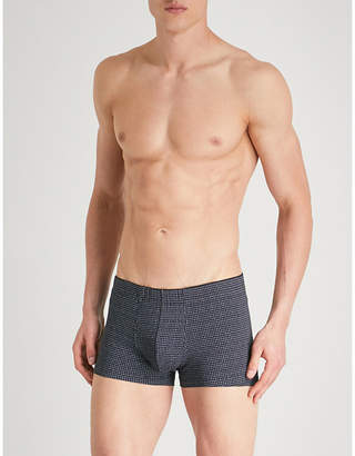 Sunspel Printed slim-fit stretch-cotton trunks