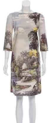 Antonio Marras Knee-Length Printed Dress Beige Knee-Length Printed Dress