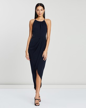 Shona Joy Core High Neck Ruched Dress