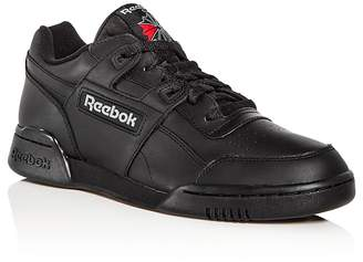 Reebok Men's Workout Plus Leather Lace Up Sneakers