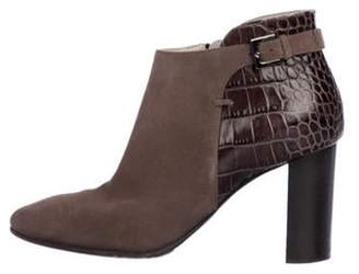 Aquatalia Suede Ankle Boots Olive Suede Ankle Boots