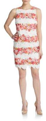 Embroidered Floral-Stripe Dress $188 thestylecure.com