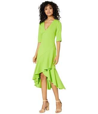Badgley Mischka Side Ruffle Dress