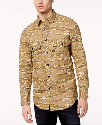 G Star G-Star Men's Camo-Print Shirt, Created for Macy's