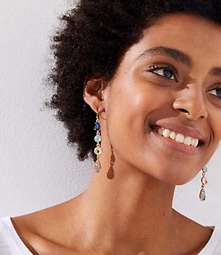LOFT Cascading Stone Drop Earrings