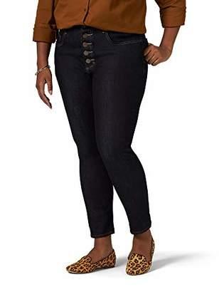 Lee Indigo Women's Plus Size Heritage High Rise Skinny Ankle Jean
