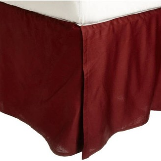 Superior 300 Thread Count 100 Percent Premium Egyptian Cotton Pleated Solid Bed Skirt