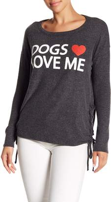 Chaser Lace-Up Love Knit Sweatshirt