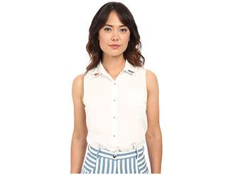 Rachel Antonoff Sleeveless Bobby Top Embroidered Women's Sleeveless