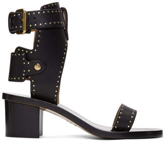 Isabel Marant Black Vegetal Iconic Jaeryn Sandals