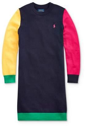 Ralph Lauren Girls' Color-Block Sweater Dress - Big Kid