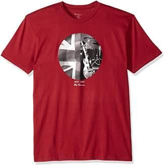 Ben Sherman Men's Union Jack Circle Graphic Tee