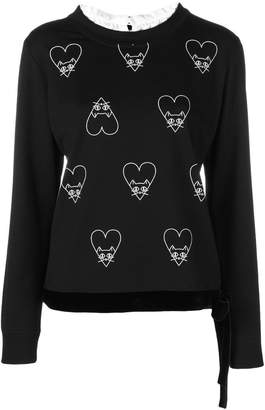 Marc Cain cat and heart print sweatshirt