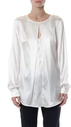 Dondup Oversized Silk Keyhole Blouse