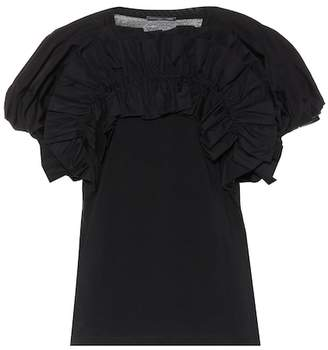 Alexander McQueen Ruffled cotton top