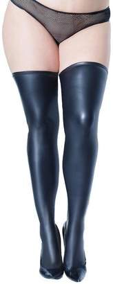 1accf3629 Coquette Plus Size Matte Wet Look Stay Up Thigh High Stockings- Fits size  14-