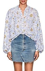Thierry Colson Women's Slava Floral Cotton Blouse - Blue Floral
