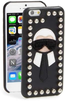 Fendi Karlito Genuine Mink Fur & Leather iPhone 6/6s Case