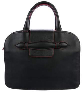 Sonia Rykiel Grained Leather Flap Handle Bag