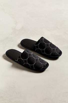 Urban Outfitters Quilted Polka Dot Scuff Slipper