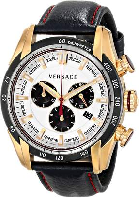 Versace Men's VDB040014 V-Ray Analog Display Quartz Black Watch