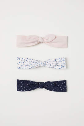 H&M 3-pack Hairbands with Bow - Blue