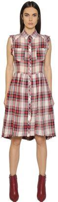 Plaid Cotton & Linen Shirt Dress $208 thestylecure.com