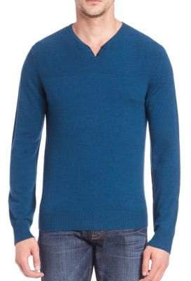 Saks Fifth Avenue MODERN Wool & Cashmere Henley Sweater