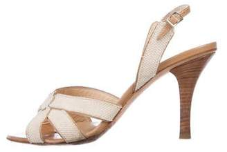 Jimmy Choo Woven Ankle-Strap Sandals