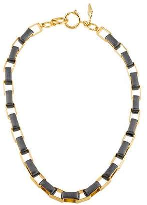 Diane von Furstenberg Leather Woven Chain Necklace