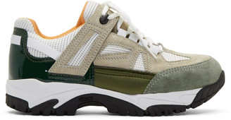 Maison Margiela Tan and White Security Sneakers