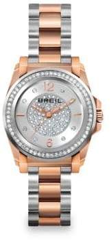 Breil Milano Manta Two-Tone Stainless Steel& Crystal Bracelet Watch