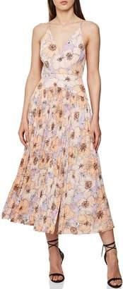 Reiss Corrine Pleated Midi Dress