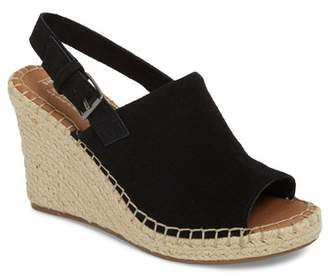 Toms Monica Leather Slingback Wedge