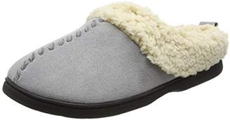 Dearfoams Women's Microsuede Clog with Whipstitch and Memory Foam Low-Top Slippers,3-4 Uk (36-37 EU)