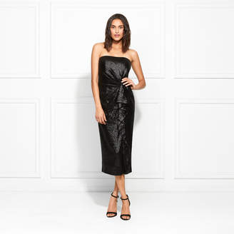 a97d6a3aac2f Rachel Zoe Krista Strapless Fluid Sequin Midi Dress