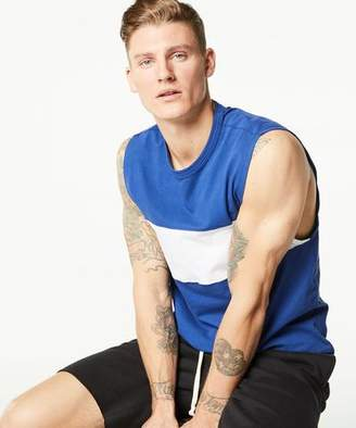 Todd Snyder + Champion Colorblock Muscle Tank in Blue