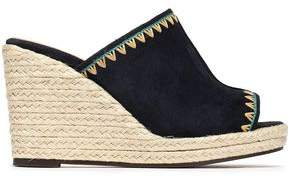 Castaner Roberta Embroidered Suede Espadrille Mules
