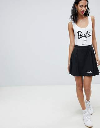 Missguided Barbie Pleated Mini Skirt