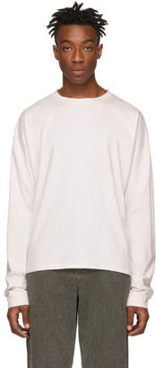 Marni Pink Embroidered Logo Long Sleeve T-Shirt