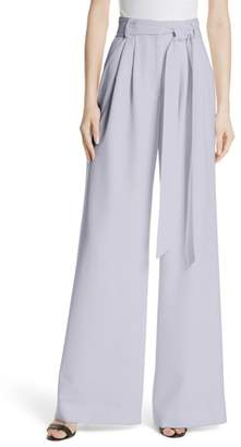 Milly Trapunto Italian Cady Wide Leg Trousers