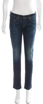 Rag & Bone Mid-Rise Straight-Leg Distressed Jeans