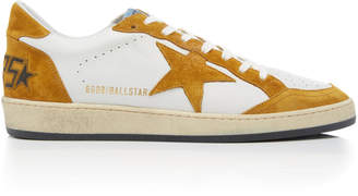 Golden Goose Ball Star Leather And Suede Sneakers
