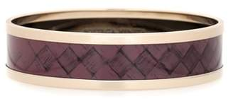 Bottega Veneta Intrecciato-printed bangle